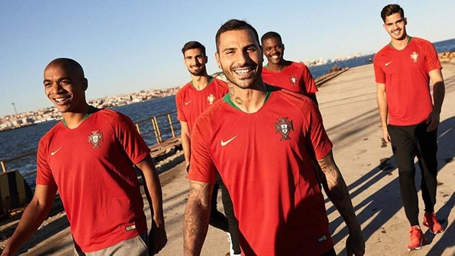 Aí estão as camisolas que Portugal vai usar no Mundial 2018 ... a87d95566bed3