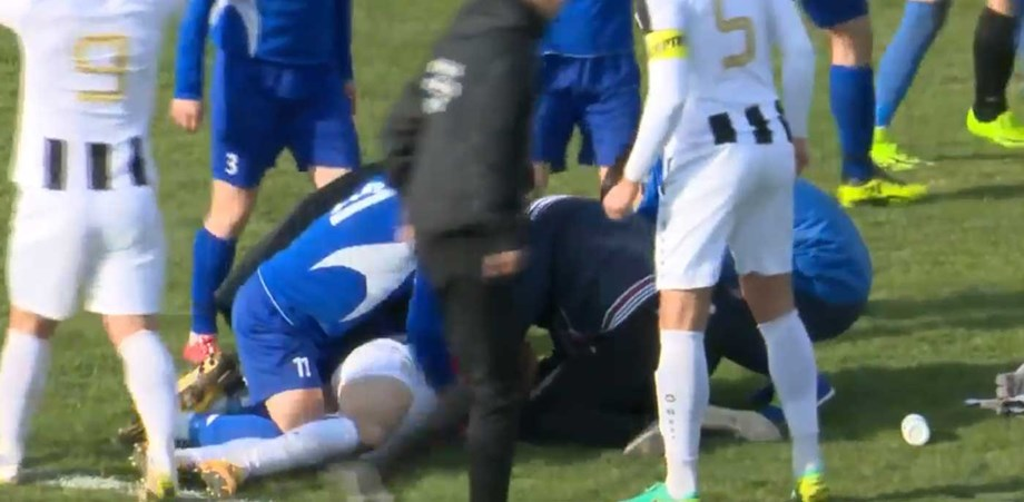 Imagens chocantes  jogador croata morre em campo - Vídeos - Jornal Record 31b41005239cd