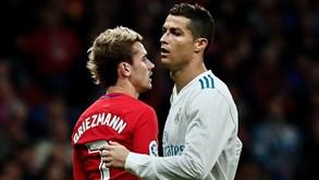 Real Madrid-At. Madrid: Dérbi com Ronaldo 'on fire'