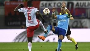 Marselha-RB Leipzig: Margem curta para gerir