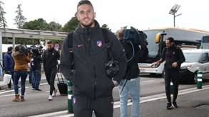 As imagens da partida do At. Madrid para Lisboa