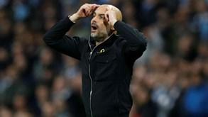 Pep Guardiola acusado de conduta imprópria pela UEFA