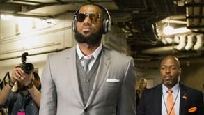 LeBron James pagou 70 mil euros para Cavaliers se apresentarem cheios de estilo em Indiana