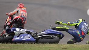 Incidente entre Márquez e Rossi resulta em penalizações mais pesadas já nos Estados Unidos