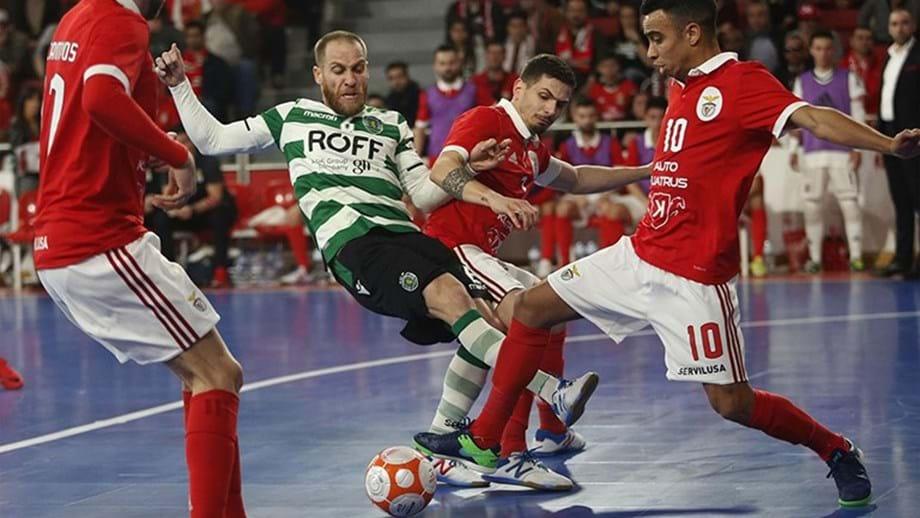 Benfica-Sporting  Dia de final antecipada - Futsal - Jornal Record d86e30a835a0b