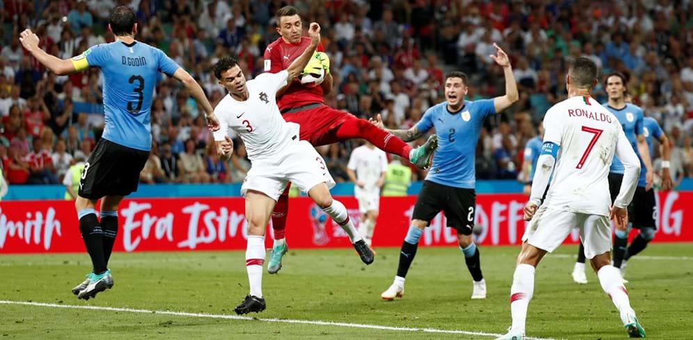 fe31cfddcc Portugal chega ao intervalo a perder por 1- 0 diante do Uruguai