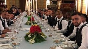 Seleção Nacional animada em jantar no antigo Museu dos Coches