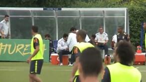 Fred lesionou-se e foi assistido no treino do Brasil