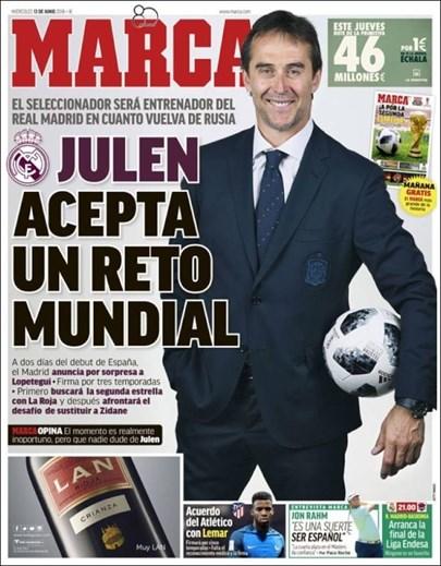 1dc44901b5cfa Oficial  Lopetegui deixa seleção espanhola. Saída do treinador estava em  cima da mesa após anúncio do Real Madrid