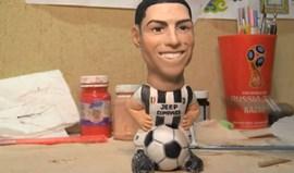 Cristiano Ronaldo em versão boneco já veste à Juventus