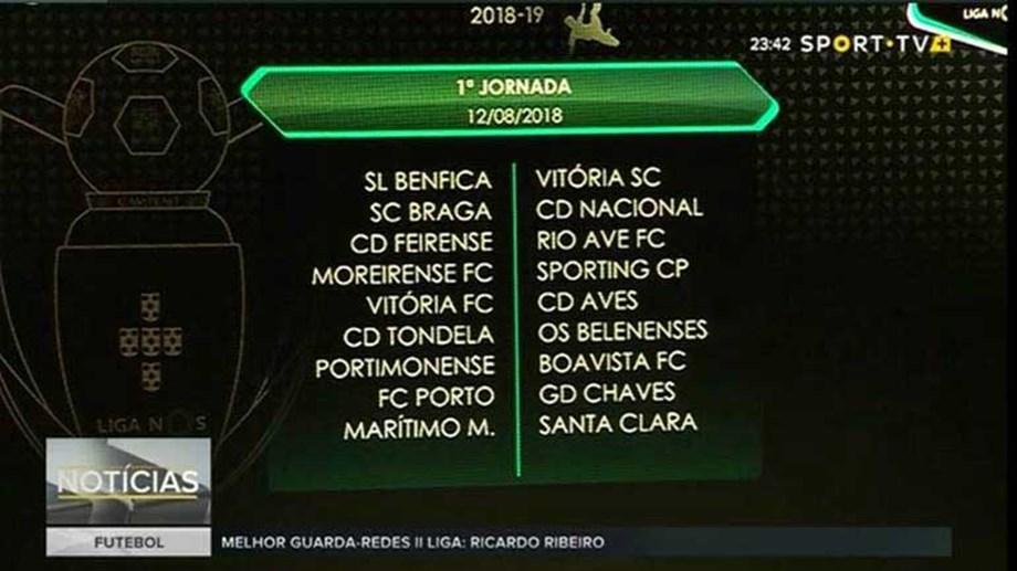 Calendario Primeira Liga.O Calendario Completo Da Liga Nos 2018 19 A Segunda E