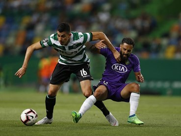 Sporting-V. Setúbal, 1-1 (1.ª parte)