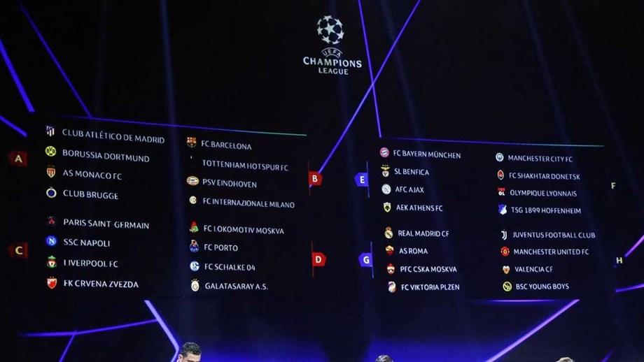 Champion Liga Calendario.O Calendario Completo Da Liga Dos Campeoes 2018 19 Liga