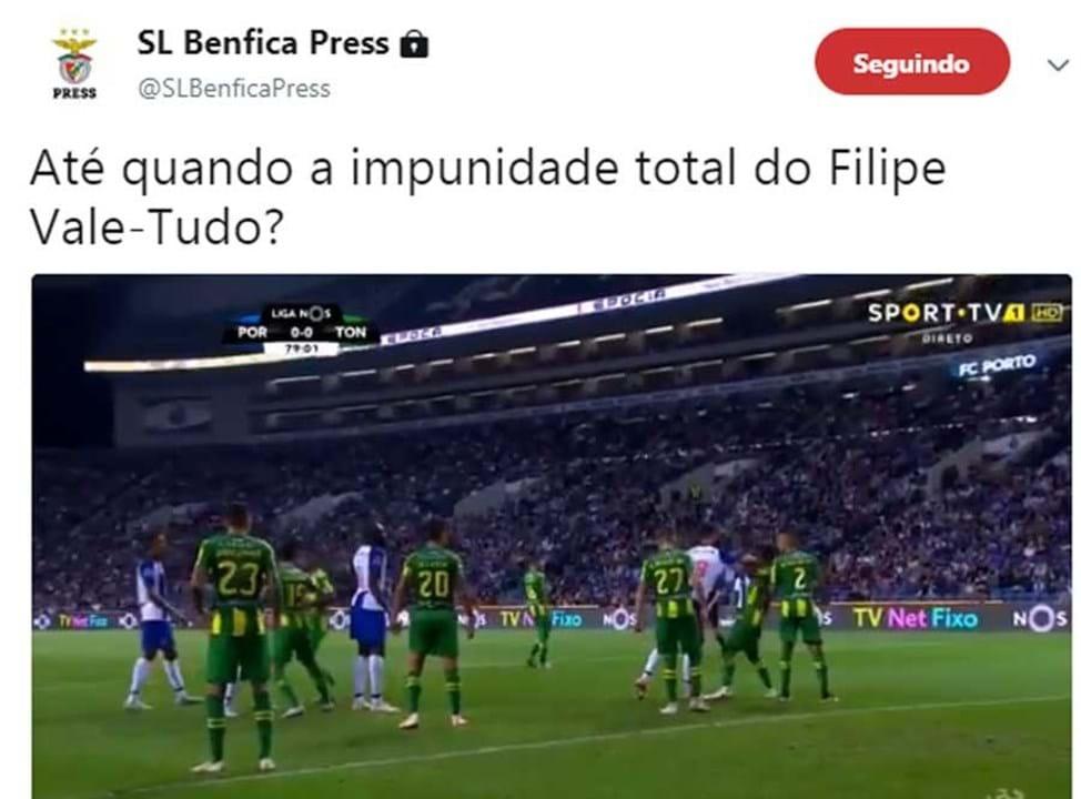 Benfica voltou ao tema no Twitter