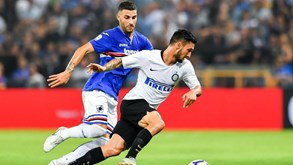 Inter vence Sampdoria com golo nos descontos