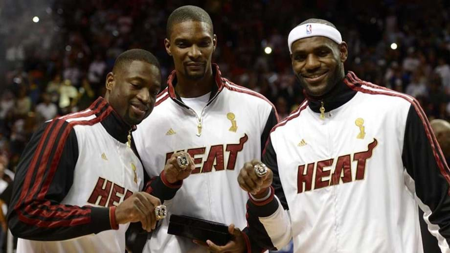 Dwyane Wade, Chris Bosh e LeBron James