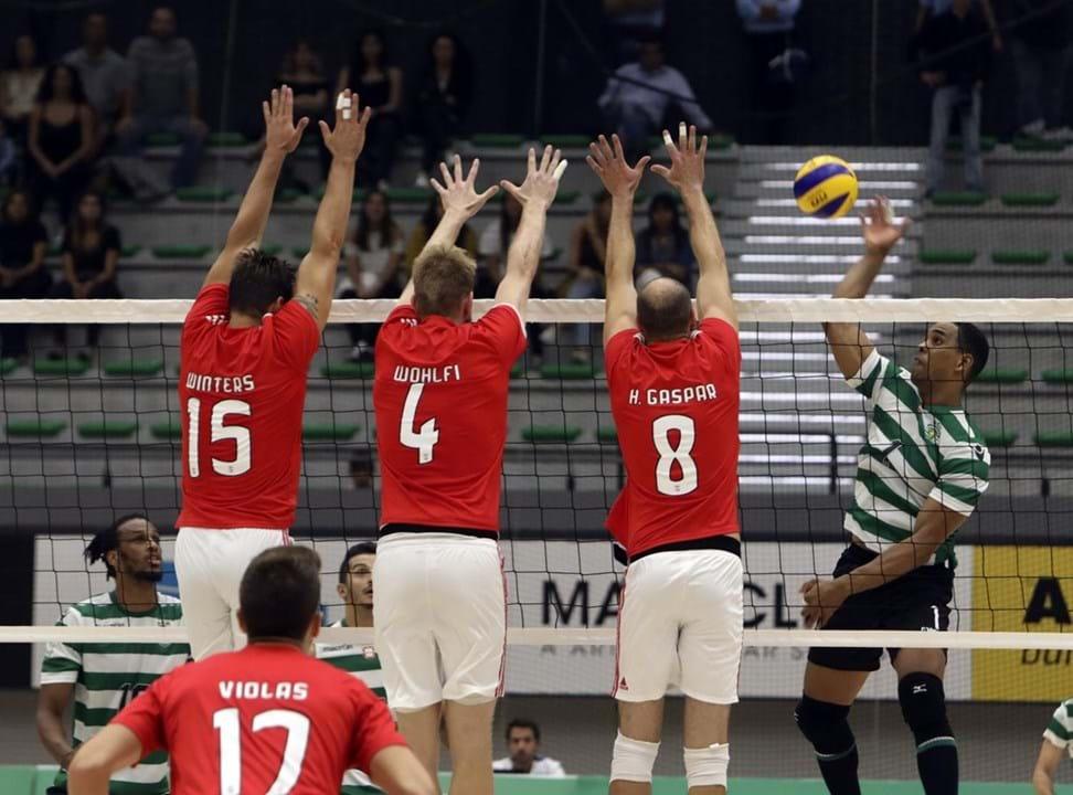 765b22f547 Benfica vence Sporting na  negra  - Voleibol - Jornal Record