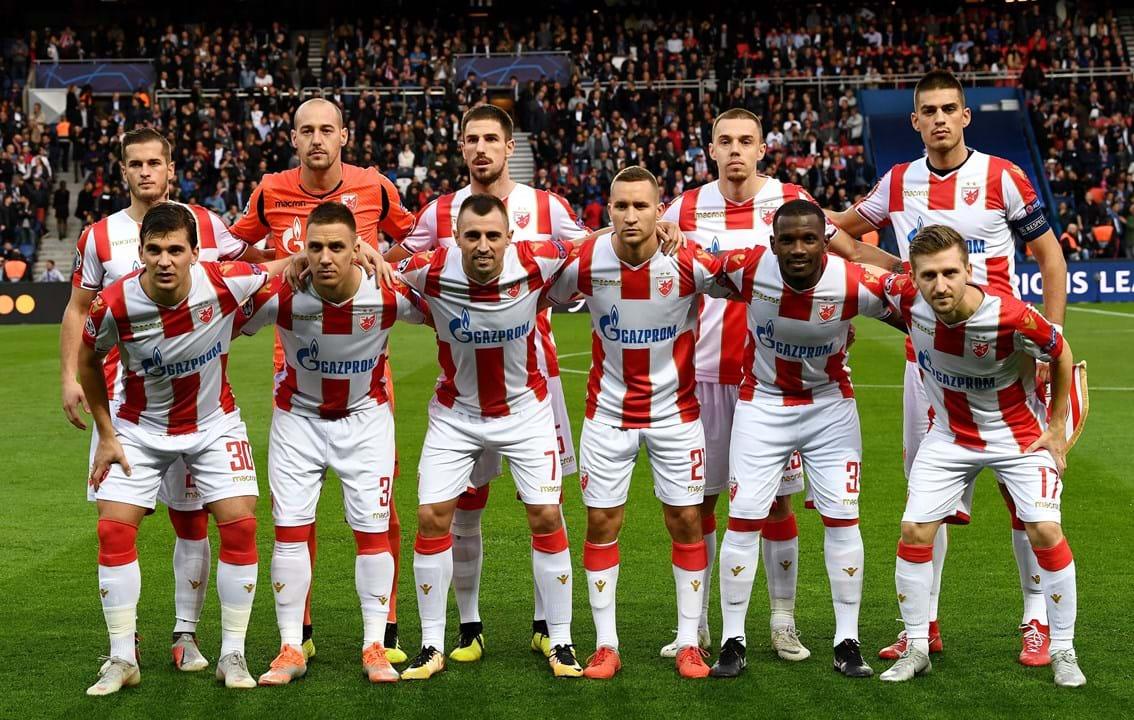 5. Estrela Vermelha (Sérvia): 61 jogadores