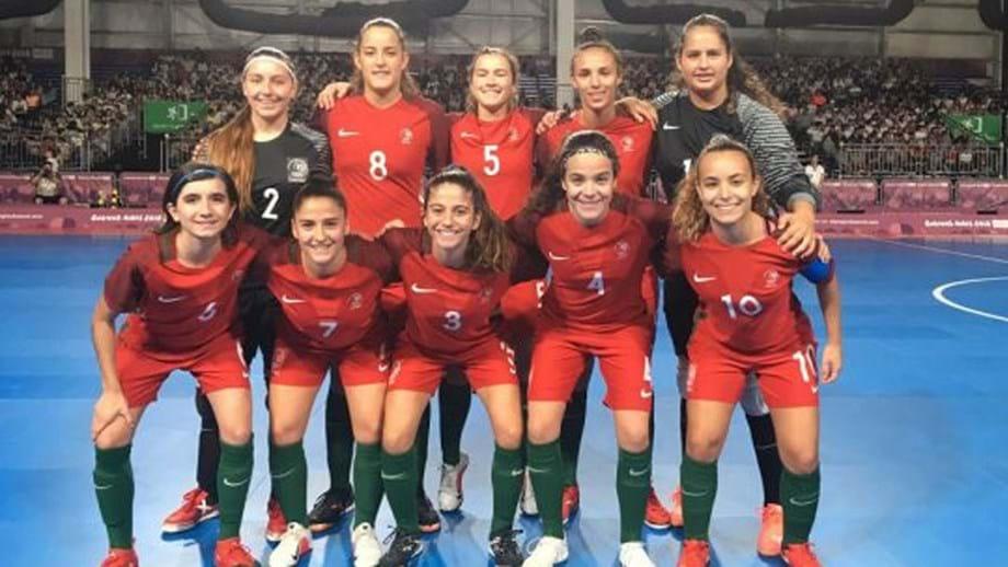 873a77a265 ... futsal feminino nos Jogos Olímpicos da Juventude. Vitória por 16-2 na  meia-final frente à Bolívia