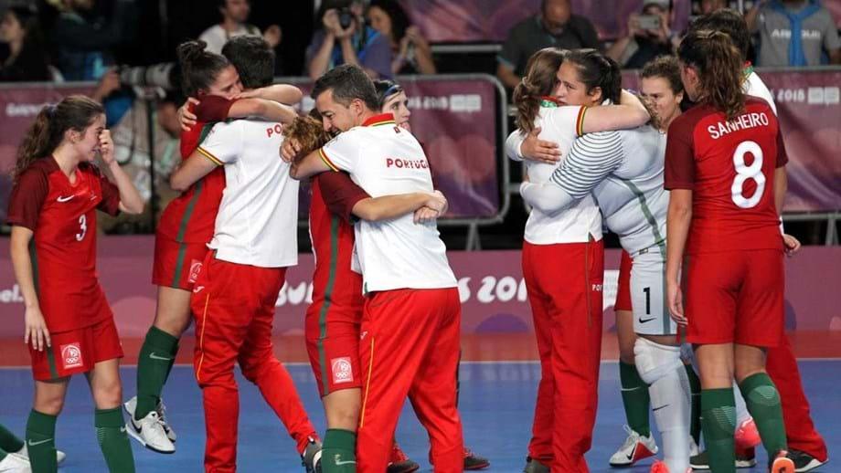 995ae8265b Governo orgulhoso da seleção feminina de futsal de sub-19. Conquistou  medalha de ouro nos Jogos Olímpicos da Juventude