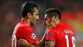 Tondela-Benfica: Jonas apto, Salvio de fora