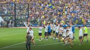 Parecia dia de jogo: Boca Juniors treina em estádio lotado e ambiente de festa