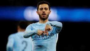 Más notícias para o Manchester City: Guardiola confirma lesão de Bernardo Silva