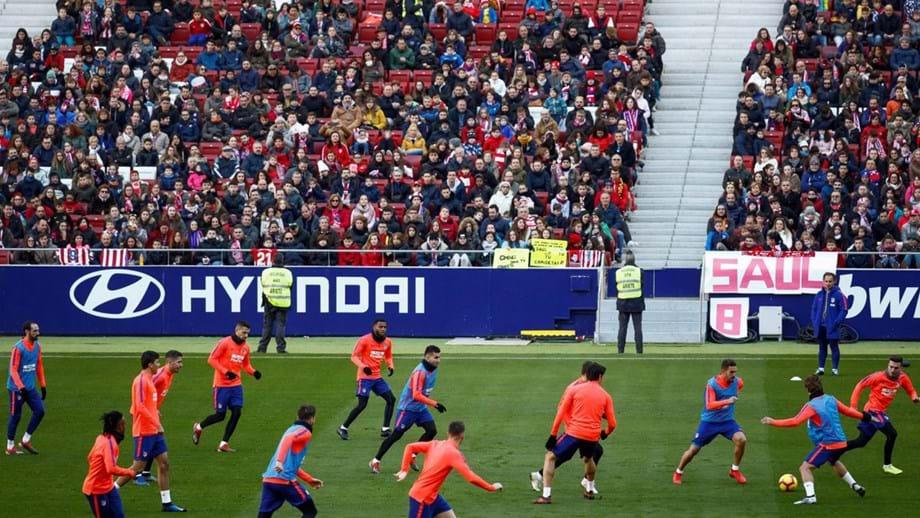 Mais de 10 mil adeptos desejaram bom ano ao Atlético Madrid ... f2205ade90bd7