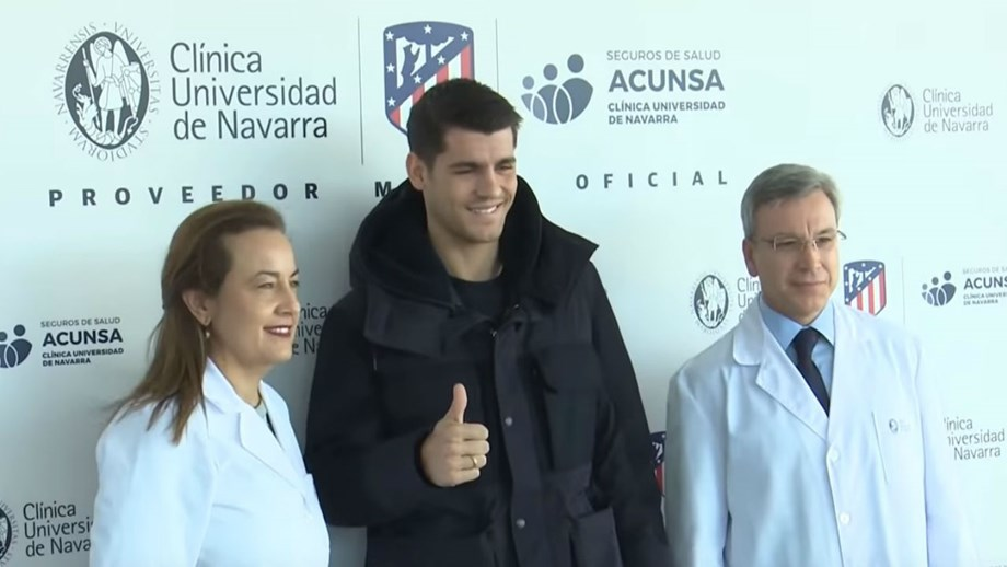 Morata passou testes médicos e já posa à Atlético Madrid - Espanha ... c831aba98ac3b