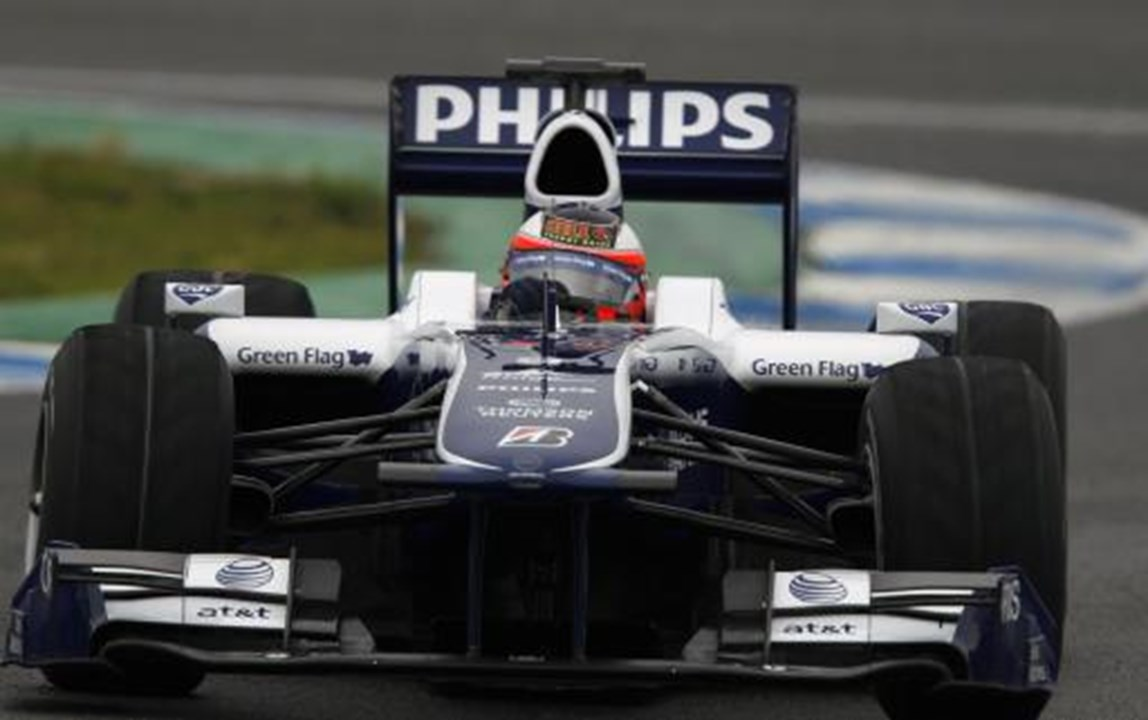 Rubens Barrichello pilotou pela Williams