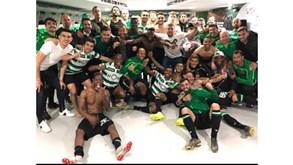 Foi assim que o Sporting celebrou a vitória diante do Benfica