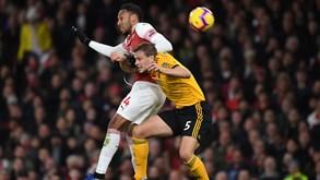 Wolverhampton-Arsenal: 'Caça grandes' tenta fazer nova surpresa