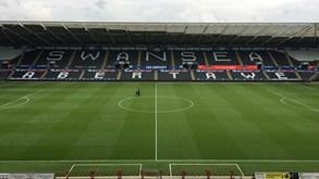 Swansea-Derby County: Contas passam por aqui
