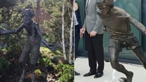 Estátua de George Best não convenceu e os 'memes' não demoraram a sair
