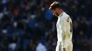 Real Madrid em polvorosa: Sergio Ramos pondera bater com a porta