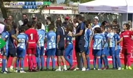 Miúdos do Málaga dão lição aos pais em jogo com o Sporting após confusão na bancada