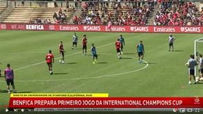 Quinteto falhou treino do Benfica nos Estados Unidos