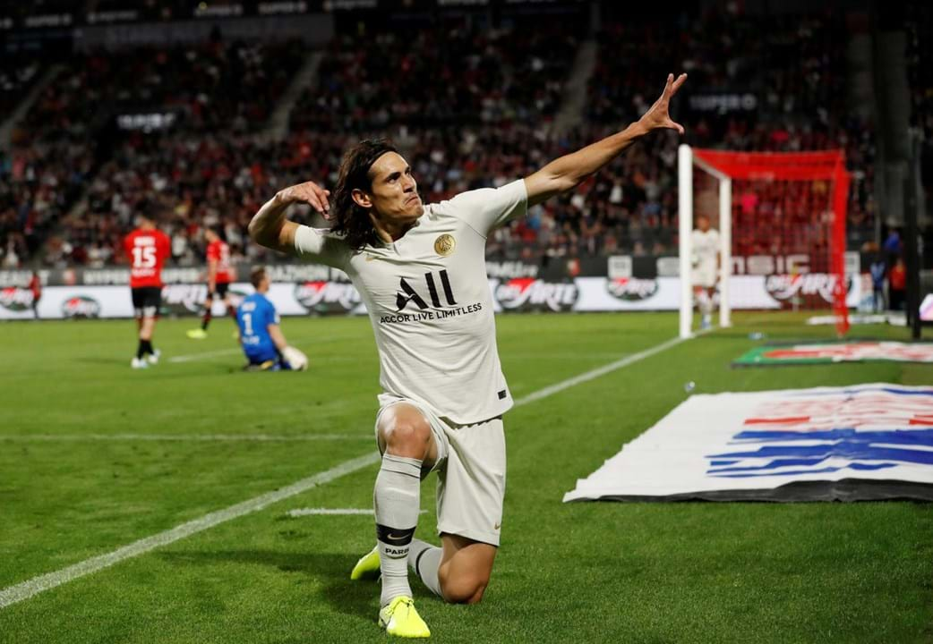 Edison Cavani, 32 anos, Paris Saint-Germain.