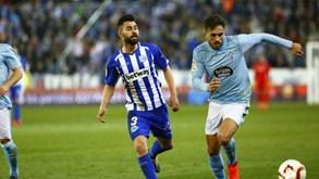Alavés-Celta de Vigo: duelo entre duas equipas em zona de perigo