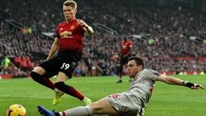 Manchester United-Liverpool: equipa de Klopp ainda não perdeu pontos