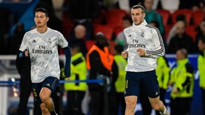 James e Bale 'abandonaram' Bernabéu antes do final do jogo com o Betis