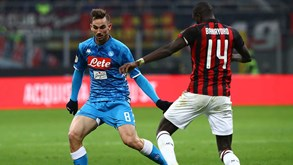 AC Milan-Nápoles: vitórias precisam-se