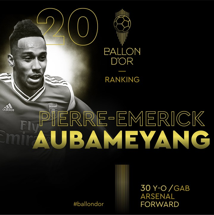 20 - Aubameyang (Arsenal)