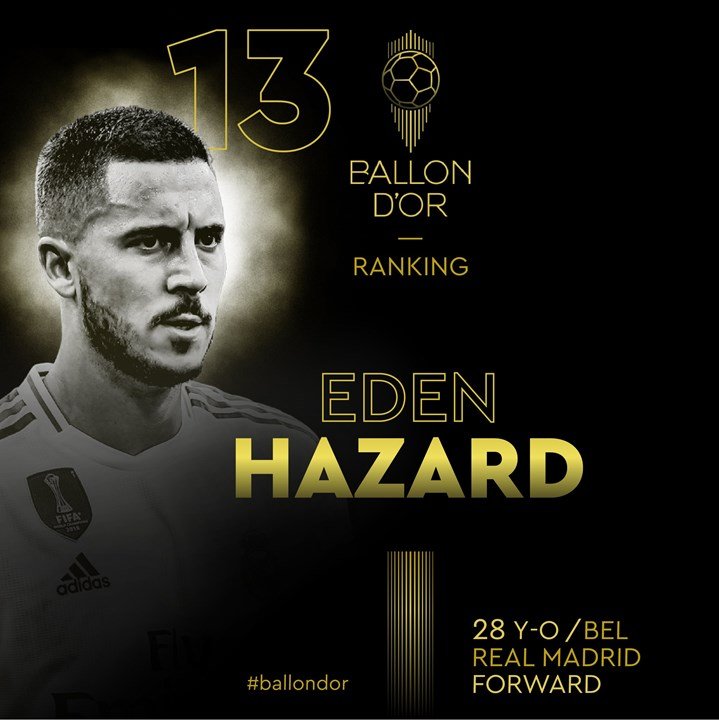 13 - Eden Hazard - Real Madrid