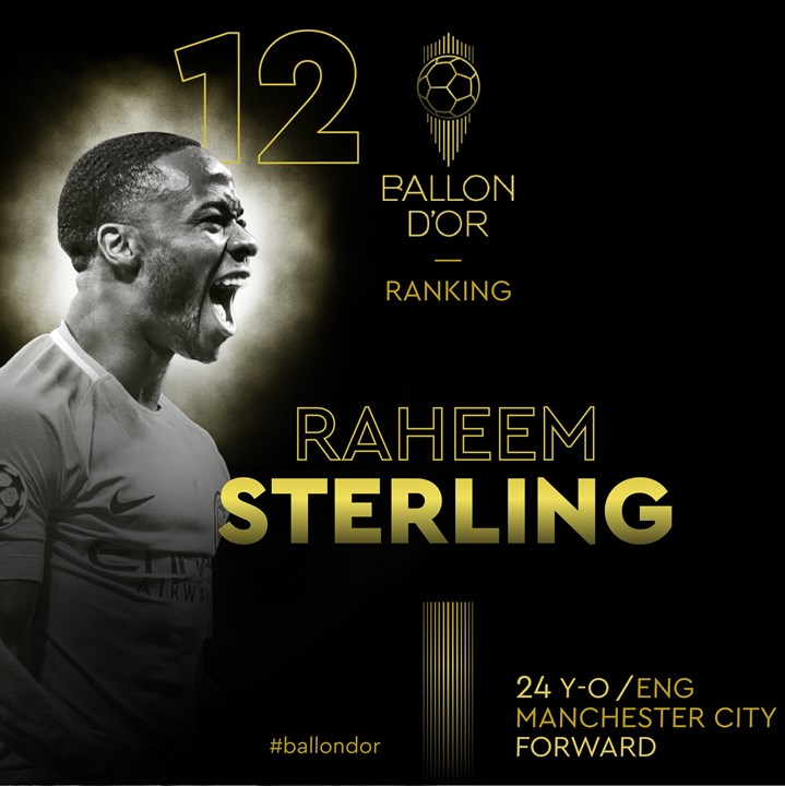 12 - Raheem Sterling - Manchester City