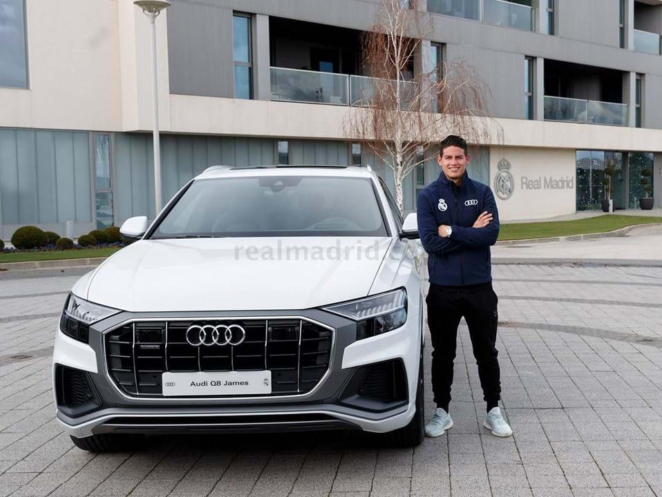 James Rodríguez escolheu um Audi Q8 50 TDI quattro tiptronic, avaliado em 87.460 mil euros.