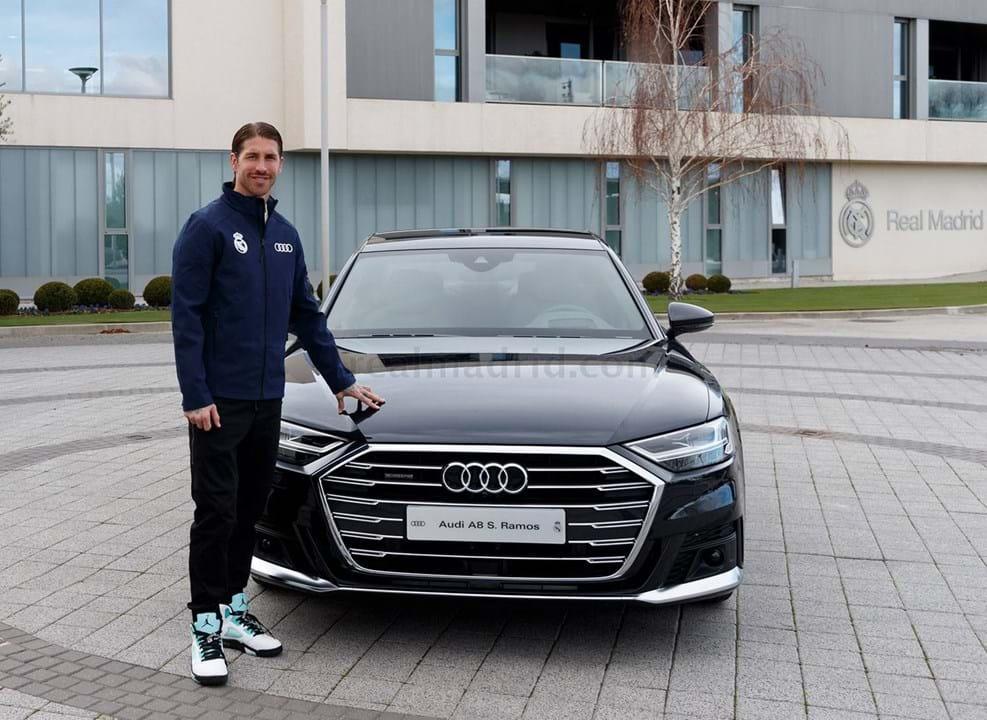 Sergio Ramos escolheu um Audi A8 50 TDI quattro tip tronic, avaliado em 101.325 mil euros.