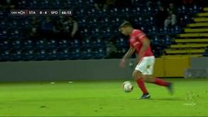 Fábio Cardoso marcou um golaço... mas não contou
