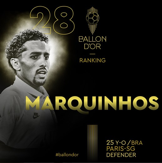 28 - Marquinhos (Paris Saint-Germain)