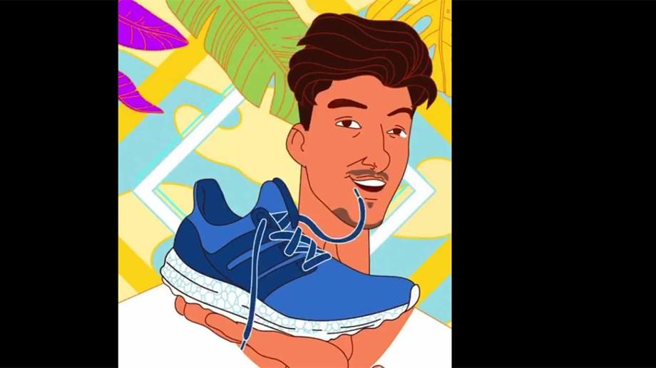 Adidas anuncia seu primeiro tênis produzido com uma